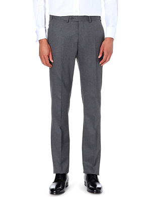 ARMANI COLLEZIONI Mid-rise wool trousers