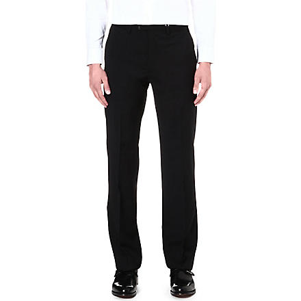 ARMANI COLLEZIONI Gio regular-fit straight-leg trousers (Black