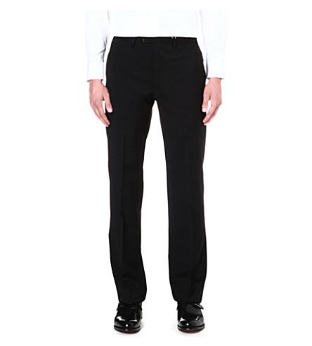 ARMANI COLLEZIONI Gio regular-fit straight-leg trousers (Black