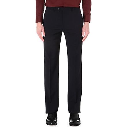 ARMANI COLLEZIONI Gio regular-fit straight-leg trousers (Navy