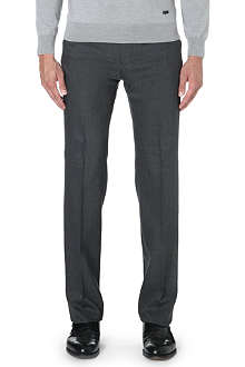 ARMANI COLLEZIONI Houndstooth wool-blend trousers