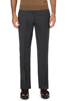 ARMANI COLLEZIONI Straight mid-rise wool trousers