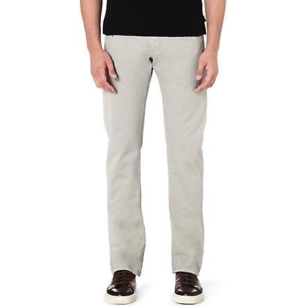 ARMANI COLLEZIONI J15 cotton-gabardine trousers (Beige
