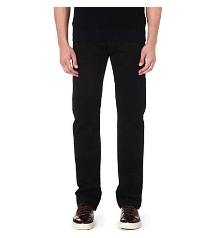 ARMANI COLLEZIONI J15 cotton-gabardine trousers (Black