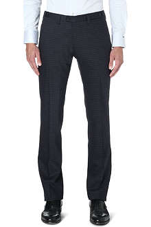 ARMANI COLLEZIONI Slim-fit wool-blend trousers