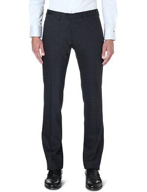 ARMANI COLLEZIONI Slim-fit wool-blend trousers