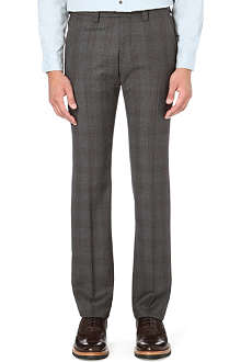 ARMANI COLLEZIONI Checked wool trousers