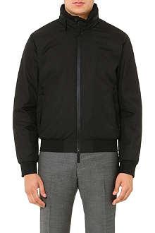 ARMANI COLLEZIONI Concealed-hood bomber jacket