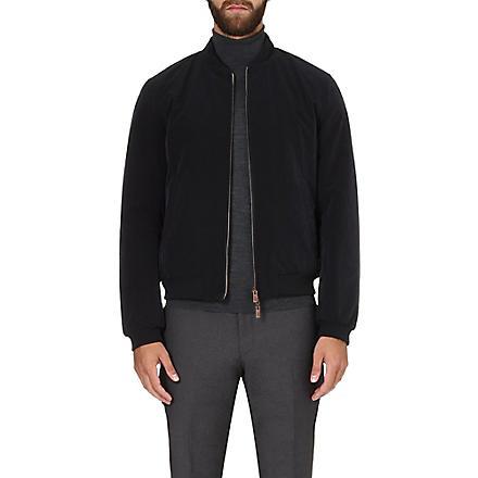 ARMANI COLLEZIONI Reversible bomber jacket (Navy
