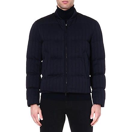 ARMANI COLLEZIONI Quilted padded jacket (Navy