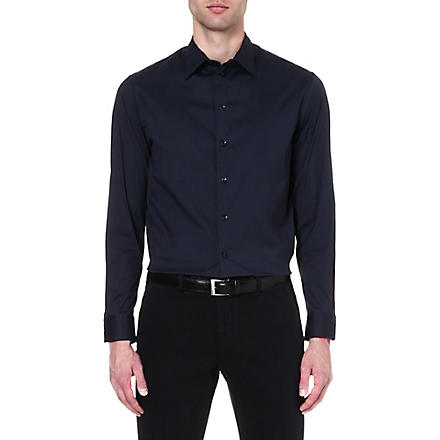 ARMANI COLLEZIONI Regular-fit shirt (Navy