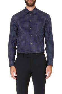 ARMANI COLLEZIONI Modern-fit gingham shirt