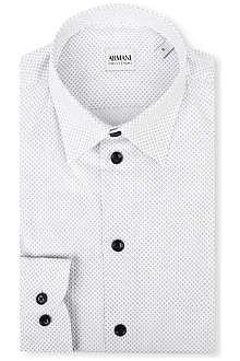 ARMANI COLLEZIONI Modern-fit diamond-print shirt