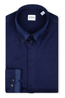 ARMANI COLLEZIONI Rubber-stripe slim-fit shirt