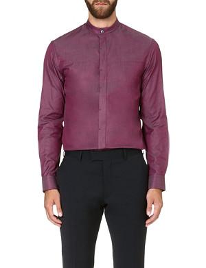 ARMANI COLLEZIONI Nehru-collar cotton shirt