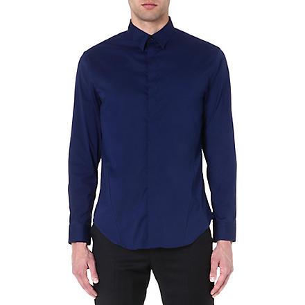 ARMANI COLLEZIONI Regular-fit single-cuff shirt (Royal