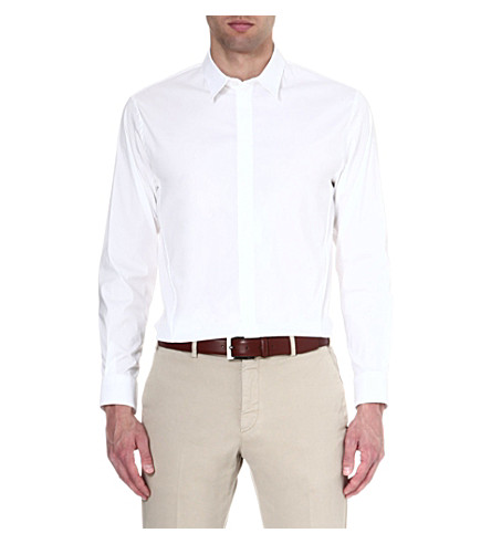 ARMANI COLLEZIONI Regular-fit single-cuff shirt (White