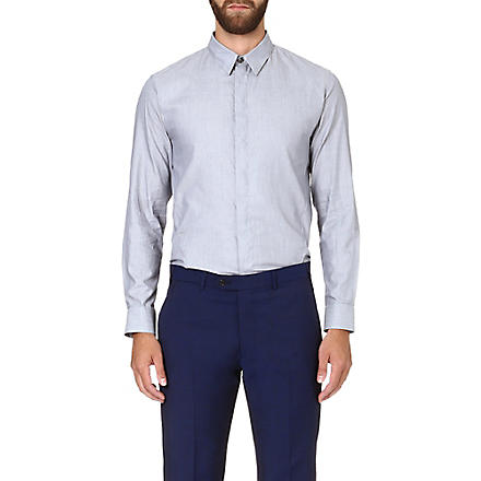 ARMANI COLLEZIONI Regular-fit cotton shirt (Grey