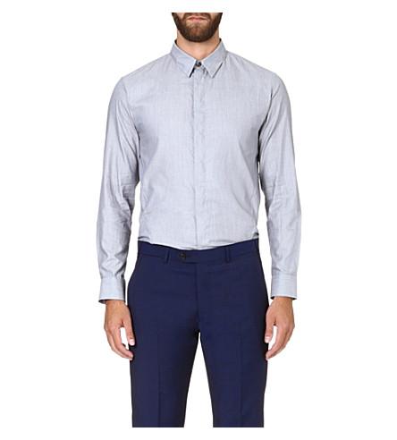 ARMANI COLLEZIONI Regular-fit cotton shirt (Grey