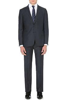 ARMANI COLLEZIONI Comfort Line micro-checked suit