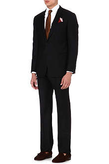 ARMANI COLLEZIONI Single-breasted striped wool suit