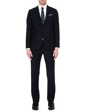 ARMANI COLLEZIONI Metropolitan wool and mohair-blend suit