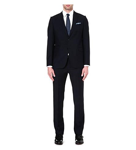 ARMANI COLLEZIONI Metropolitan wool and mohair-blend suit (Navy