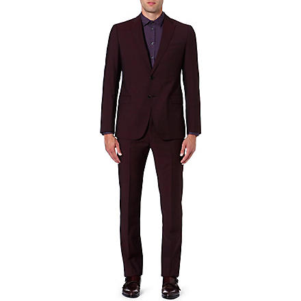 ARMANI COLLEZIONI Metropolitan wool suit (Burgundy