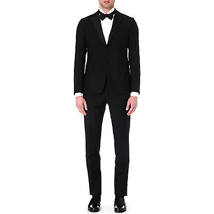 ARMANI COLLEZIONI Wool and mohair-blend tuxedo (Black