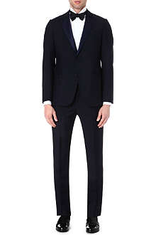 ARMANI COLLEZIONI Wool and mohair-blend tuxedo
