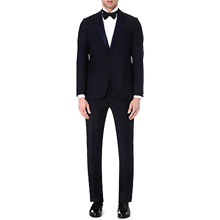 ARMANI COLLEZIONI Wool and mohair-blend tuxedo (Navy