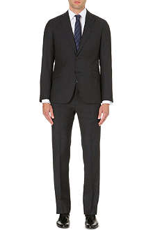 ARMANI COLLEZIONI Single-breasted tapered wool suit