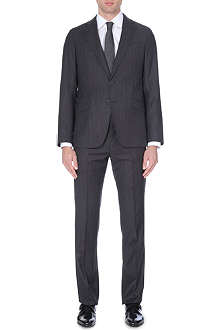 ARMANI COLLEZIONI Striped single-breasted wool suit