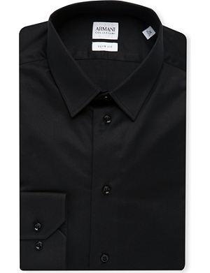 ARMANI COLLEZIONI Slim-fit single-cuff stretch-cotton shirt