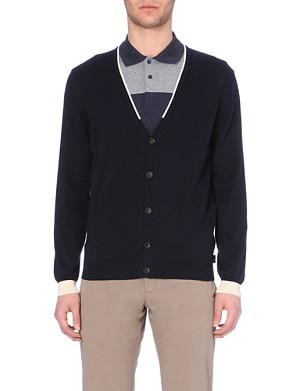 ARMANI COLLEZIONI Cotton v-neck cardigan