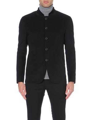 ARMANI COLLEZIONI Nehru-collar woven jacket