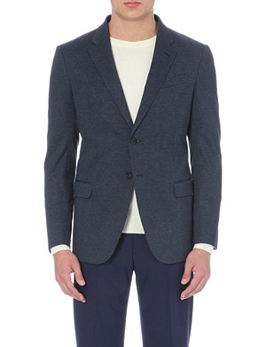 ARMANI COLLEZIONI Mirco-houndstooth single-breasted jacket