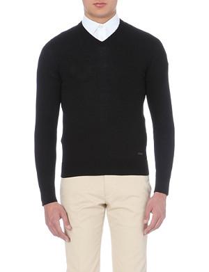 ARMANI COLLEZIONI V-neck knitted jumper