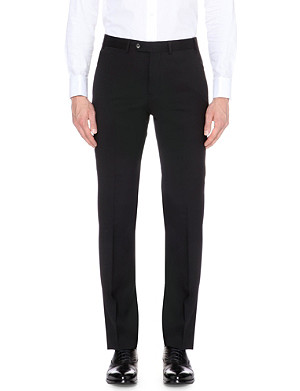 ARMANI COLLEZIONI Wool slim-fit straight-leg trousers