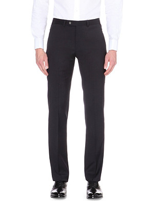 ARMANI COLLEZIONI Wool slim-fit straight-leg trousers