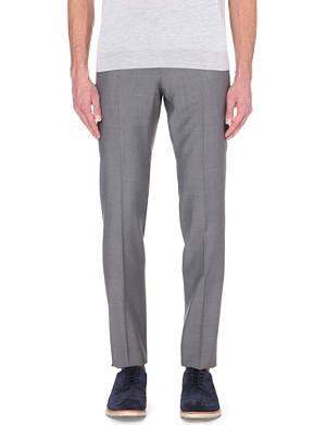 ARMANI COLLEZIONI Slim-fit wool trousers