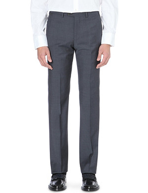 ARMANI COLLEZIONI Metropolitan slim-fit straight wool trousers
