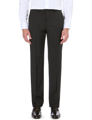 ARMANI COLLEZIONI Wool slim-fit trousers