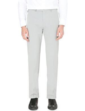ARMANI COLLEZIONI Slim-fit straight stretch-cotton trousers