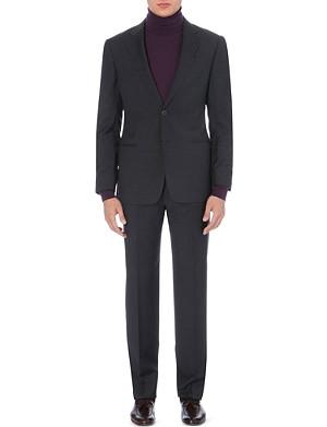 ARMANI COLLEZIONI Basketweave single-breasted suit