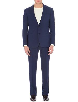 ARMANI COLLEZIONI Pindot single-breasted wool suit