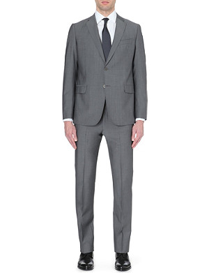ARMANI COLLEZIONI Three-piece wool and mohair-blend suit