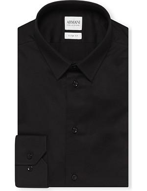 ARMANI COLLEZIONI Single-cuff stretch-cotton shirt