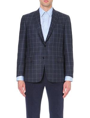 ARMANI COLLEZIONI Windowpane-patterned wool jacket