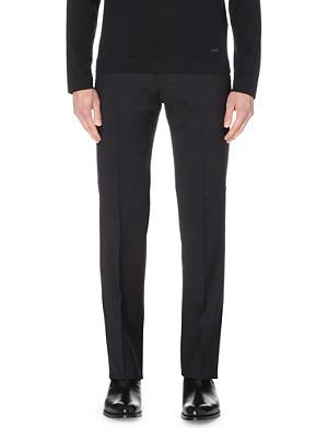 ARMANI COLLEZIONI Slim-fit straight wool trousers